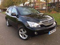 LEXUS RX400H SE-L HYBRID 3.3 2008 (58) AUTO BLACK FULL LEXUS HISTORY CREAM HEATED LEATHER SATNAV DVD