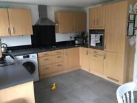 U shaped kitchen plus hob, extractor and oven