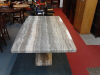 "Marble "" effect "" Dining Table GF042"