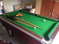 6ft slate pool table