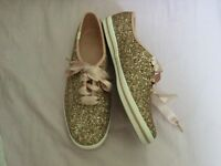 Kate Spade Keds X Glitter Sneakers Size 6.5