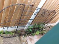 Wrought iron vintage gate