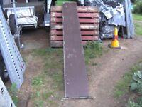 8FT TRAILER RAMP ( 1 ONLY ) GALVANISED STEEL FRAME / BOARD TREAD...