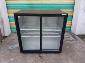 Commercial undercounter double door bottle cooler bear fridge bottle chiller