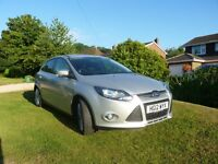 Silver Ford Focus Ecoboost