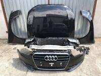 Front end Audi A5 Facelift 8K0 12-16 Left hand drive headlights, bonnet, radiator pack, bumper LHD