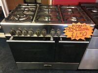 KENWOOD 90CM ALL GAS RANGE STYLE COOKER IN STAINLESS STEEL