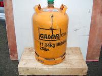 Empty 11.34kg yellow calor gas bottle