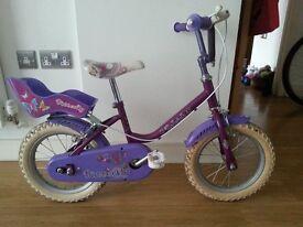 14 inch girls bike used