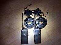 Motorola DP1400 UHF Digital/Analogue Two-Way Radios/Walkie Talkies w/Batteries and Chargers