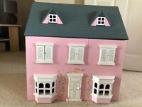 Dolls house complete with all furniture and dolls