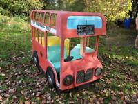 Children's red play bus