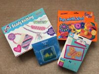 Selection of knitting and sewing kits for children (approx age 5+)