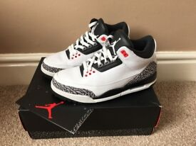 Worn Lightly UK7.5 Air Jordan 3 Infrared 23 £130 (Nike Supreme Max Bape Yeezy Kanye Adidas Huarache)
