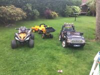 Quad £40, Jcb tractor £50,, jeep £50 or all 3 for £120