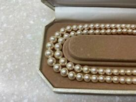 Lotus Double Strand of Pearl