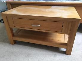 Oak Coffee Table for sale - slight damage
