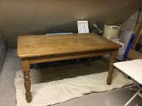Antique Pine Table and 4 Chairs.