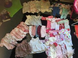 Newborn/ upto 1months/ first size baby girls clothes