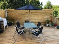 Patio Set - HOME Pacific 6 Seater Metal (Argos) - 1 year old