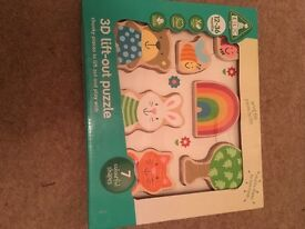 ELC chunky wooden puzzle brand new