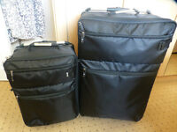 "* IT ! LUGGAGE SET OF 2 SUPER LIGHTWEIGHT SUITCASES * BLACK * CABIN & 28"" CASE *"