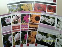 ARTS & CRAFT / CARD MAKING FLORAL TOPPER SHEETS