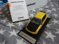 Tarmac Works 1:18 Spoon Honda Civic - Yellow with Black Bonnet