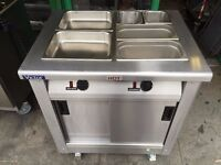 CATERING COMMERCIAL HOT CUPBOARD AND BAIN MARIE FAST FOOD RESTAURANT BBQ CAFE BAR CHICKEN PIZZA SHOP