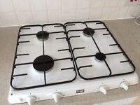 White Creda gas hob 60cm wide, 4 x burner