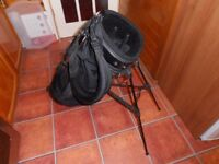 A Golf Carry / cart Bag. with integrated Stand,