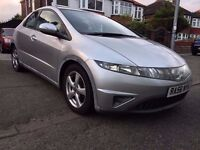 2007 HONDA CIVIC 2.2-CDTI(DIESEL),FULL LEATHER/HEATED SEATS,5DOORS,MOT AUGUST2017,ALLOYS,HPI CLEAR