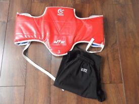 Wakoku Body Armour - Size 3 & Pair of Blitz Kung Fu training trousers Size 170 cm