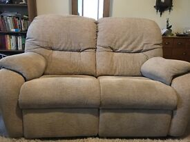 SOLD STD G-Plan 2 Seater Electric Recliner & 3 Seater Sofa in Mink/Beige