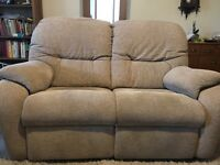 G-Plan 2 Seater Electric Recliner & 3 Seater Sofa in Mink/Beige, only 16 Months old.