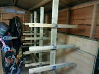 Heavy Duty Timber Rack With Castors
