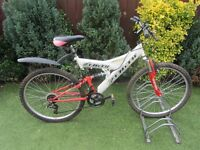 mens full susspension mountain bike with lock £49.00