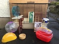 Hamster Cage (Large) & Accessories (pretty much everything you need to get started)