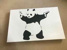 Banksy Print - Iconic shooting panda