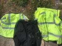 Various work site vis jackets