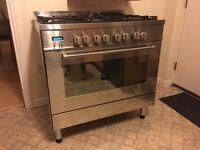 Delonghi DFS905 electric oven, gas hob