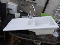 Carron Phoenix ceramic Kitchen 1 and half bowl kitchen sink inc mixer tap. £100 ono