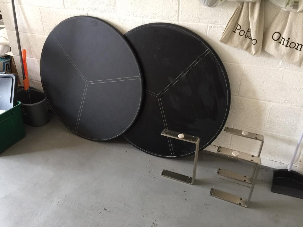 Leather Effect Round Table -FREE
