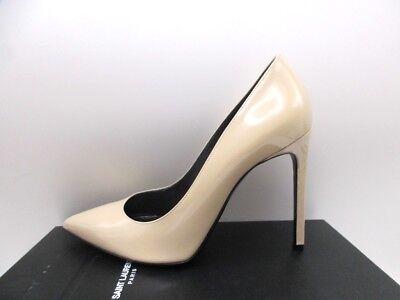 Saint Laurent YSL Paris 105 Patent Nude Powder Pumps Shoes 40 10