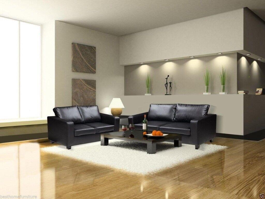 =BLACK AND BROWN FINISH= brand new box sofa