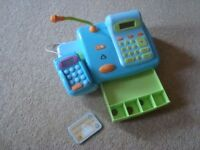 ELC Cash Register - Blue - with Red shopping basket and plastic food
