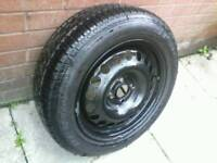 15 inch VAUXHALL astra / corsa WHEEL , NEW dunlop TYRE