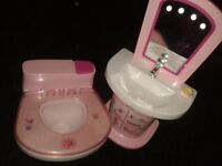 BABY BORN WASHSTAND AND ZAPF TOILET BOTH WITH SOUNDS / LIGHTS