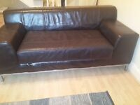 2 x Ikea Leather Sofas