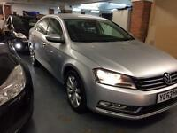 2013 (63 Reg) Volkswagen Passat 1.6 TDI BlueMotion Tech Highline Plus, (start/stop) FSH, £30 Tax